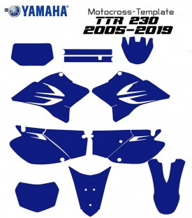 TTR 230 2005 to 2019 TEMPLATE MOTOCROSS