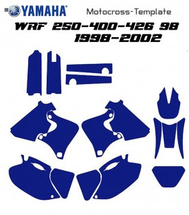 motocross vecteur template WRF 250-400-426 98