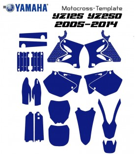 YZ125 YZ250 yamaha vectors motocross for illustrator .eps .ai from 2005  to 2014