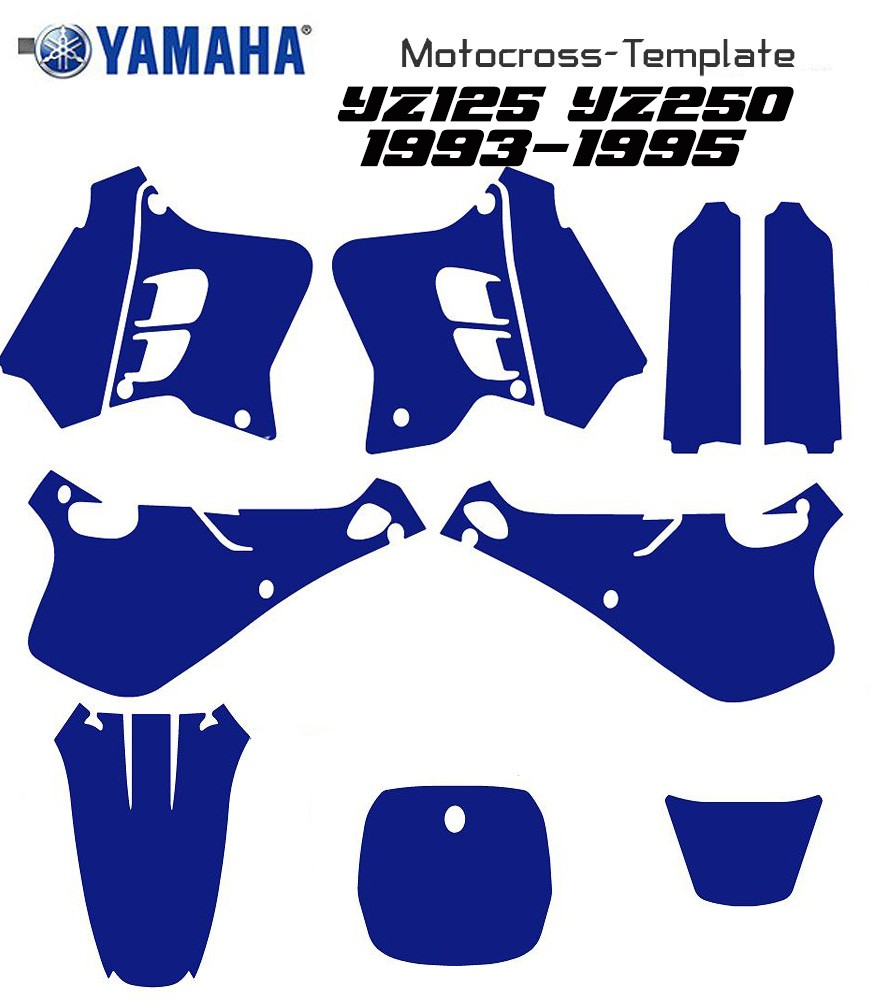 YZ 125 YZ250 1993-1994-1995 motocross template in eps and ai