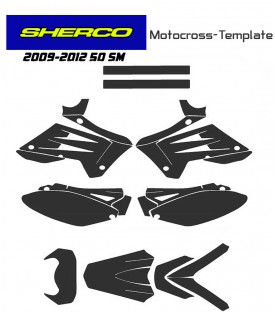 moto template vectors sherco 50 SM 2009 to 2012