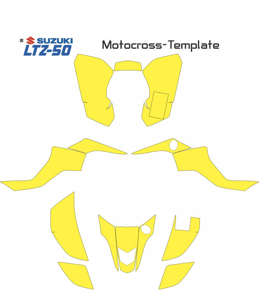 SUZUKI LTZ50 LT-Z 50 LTZ 50 TEMPLATE VECTORS FOR QUADS ATV IN EPS AND AI FORMAT.
