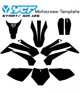 YCF 125 SM START vecteur motocross template
