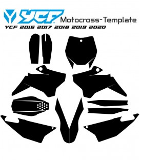 Mototemplate.com Motocross template YCF 2016 2017 2018 2019 2020 vectors