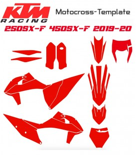 2019-2020 KTM 250SX-F 450SX-F TEMPLATE MOTOCROSS on mototemplate.com