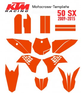 KTM 50SX 2009 2015 motocross template on mototemplate.com